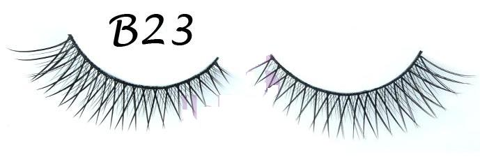 Two Layered Crisscross and Tipped False Eyelash with Variation in Length #B23