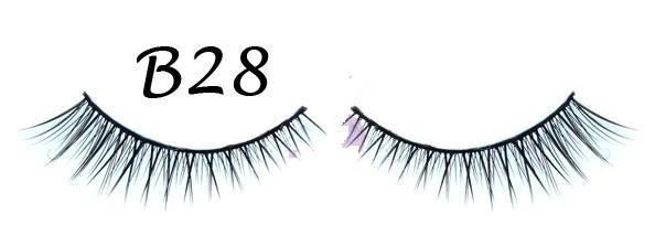 Polished Tip Criss Cross False Eyelash with Variation in Length #B28