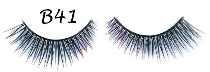 Corner Petite False Lashes with Red Polished Tip #B41